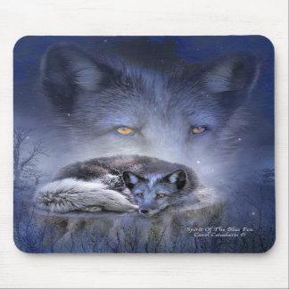 Alcohol del arte Mousepad del Fox azul Tapetes De Raton