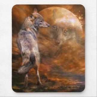 Alcohol del arte Mousepad del lobo Alfombrilla De Ratón