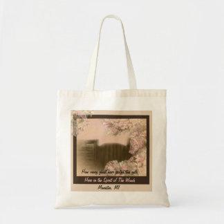 Alcohol del bolso de maderas bolsa tela barata
