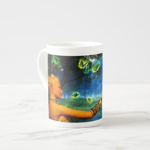 Alcohol del bosque - taza de la porcelana de hueso tazas de china