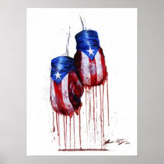 Alcohol del boxeo puertorriqueño póster