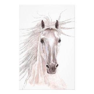 Alcohol del caballo del viento - vendimia papelería personalizada