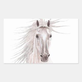 Alcohol del caballo del viento - vendimia pegatina rectangular