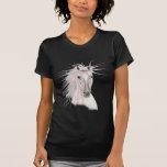 Alcohol del caballo del viento - vendimia camisetas