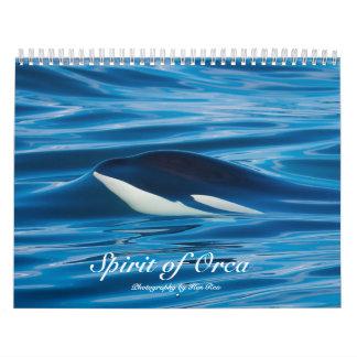 Alcohol del calendario de las orcas de la orca
