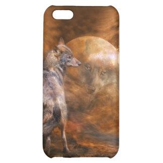 Alcohol del caso del arte del lobo para el iPhone
