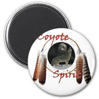 Alcohol del coyote imán redondo 5 cm