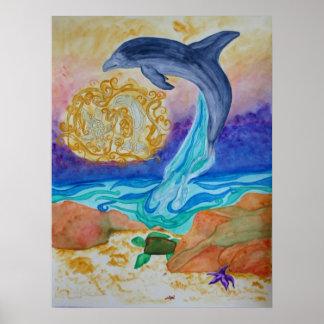 Alcohol del delfín posters