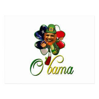 Alcohol del día de Obama St Patrick Tarjetas Postales