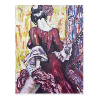Alcohol del flamenco tarjeta postal