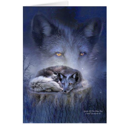 Alcohol del Fox azul ArtCard Tarjeton