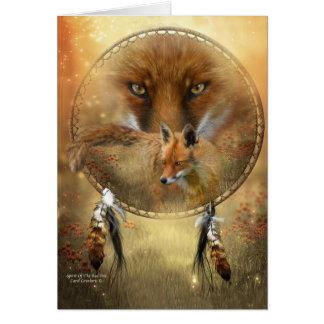 Alcohol del Fox rojo ArtCard Tarjeta De Felicitación
