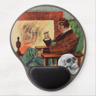 Alcohol del fuego del tubo del hombre del cráneo d alfombrillas de raton con gel