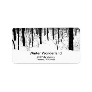 Alcohol del invierno etiquetas de dirección