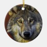 Alcohol del lobo - regalos de la foto del lobo de  adorno de reyes