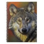 Alcohol del lobo - regalos de la foto del lobo de  cuaderno