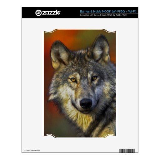 Alcohol del lobo - regalos de la foto del lobo de  skin para el NOOK