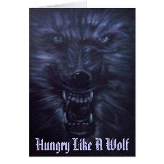 Alcohol del lobo - tarjeta de felicitación románti
