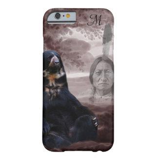 Alcohol del monograma del oso negro funda de iPhone 6 barely there