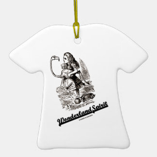 Alcohol del país de las maravillas (Alicia y su Adorno De Cerámica En Forma De Camiseta