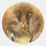 Alcohol del pegatina del arte del Fox rojo