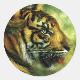 Alcohol del pegatina del arte del tigre