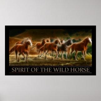 Alcohol del poster del caballo salvaje