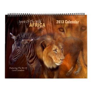 Alcohol del salvaje - calendario 2013 del arte de