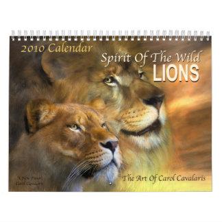 Alcohol del salvaje - calendario de los leones