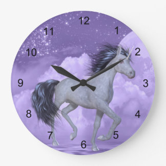 Alcohol del unicornio #4 reloj redondo grande