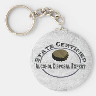 Alcohol Disposal Expert Keychain