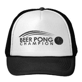 Alcohol divertido del campeón de Pong de la cervez Gorra
