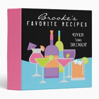 Alcohol Drink Recipe Book 3 Ring Binder