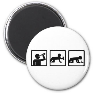 Alcohol drinking puke 2 inch round magnet