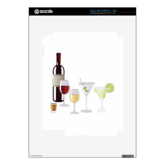 Alcohol Drinks Skin For The iPad 2