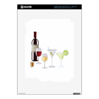Alcohol Drinks Skins For iPad 3