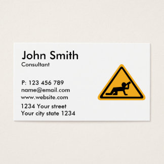 Alcohol drunken person business card