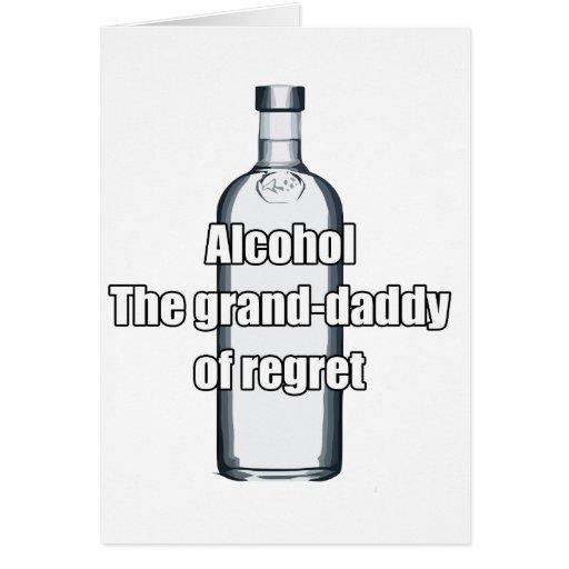Alcohol - el magnífico-papá del pesar felicitacion
