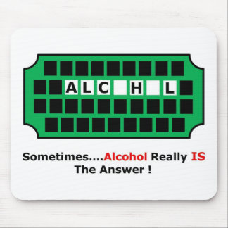 alcohol full mouse pad