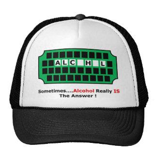 alcohol full trucker hat