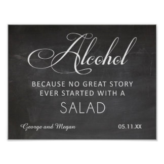 Alcohol - funny wedding chalkboard sign posters