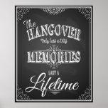 Alcohol HANGOVER bar sign perfect wedding print