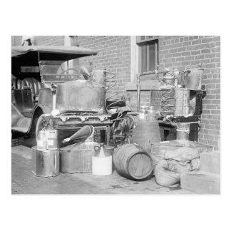 Alcohol ilegal confiscado aún, 1922 postal