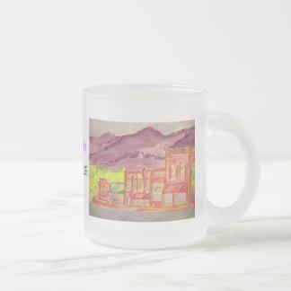 alcohol ilegal de la montaña taza de café esmerilada