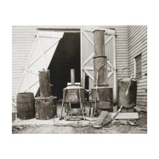 Alcohol ilegal todavía agarrado por Police, 1926 Impresion De Lienzo