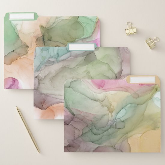 Alcohol Ink Modern Abstract Patterns File Folder