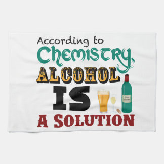 Alcohol is a Solution Hand Towel