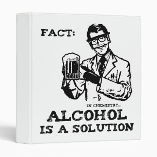 Alcohol is a Solution in Chemistry Retro Binder