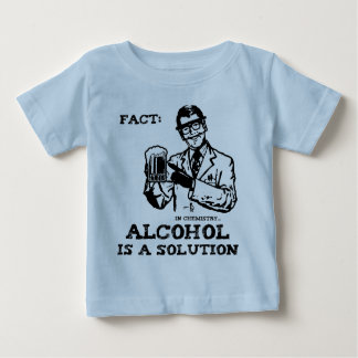 Alcohol is a Solution in Chemistry Retro Tee Shirt