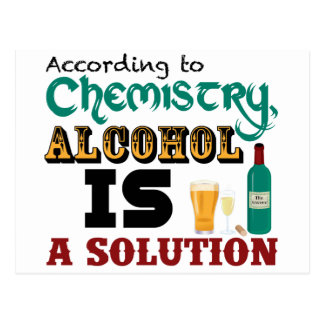 Alcohol is a Solution Post Cards